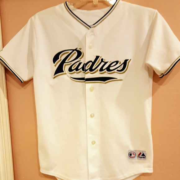 hot sale online 9ee2a f36ed Peavy #44 SD Padres Baseball Sewn Stitched Jersey